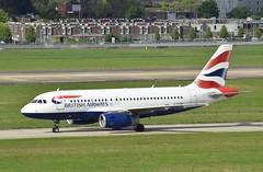 G-EUOH A319 British Airways at Heathrow 22-04-17