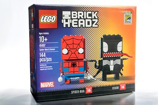 猛毒也賣萌?!2017 SDCC 限定!! LEGO 41497 BrickHeadz 系列【蜘蛛人&猛毒】SDCC 2017's Exclusive Spider-Man & Venom