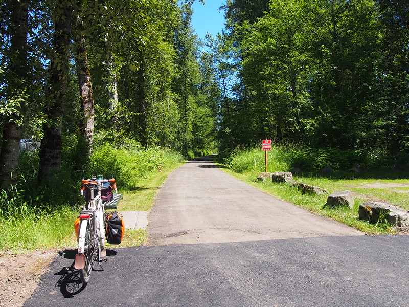 Foothills Trail: Back to the existing section at Buckley.