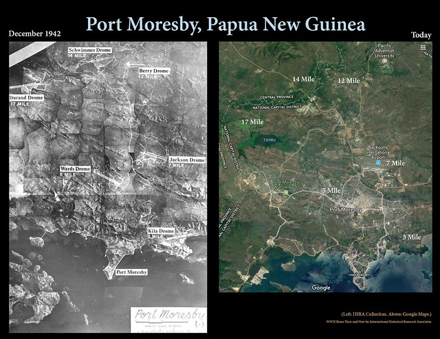 Port Moresby then and now