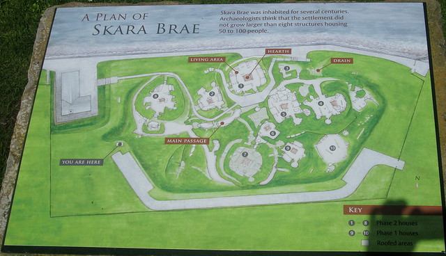Skara Brae plaque