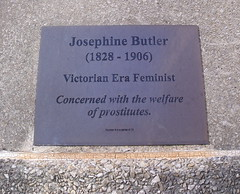 Photo of Josephine Butler brass plaque
