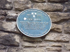 Photo of William Armstrong and Mabel's Mill black plaque