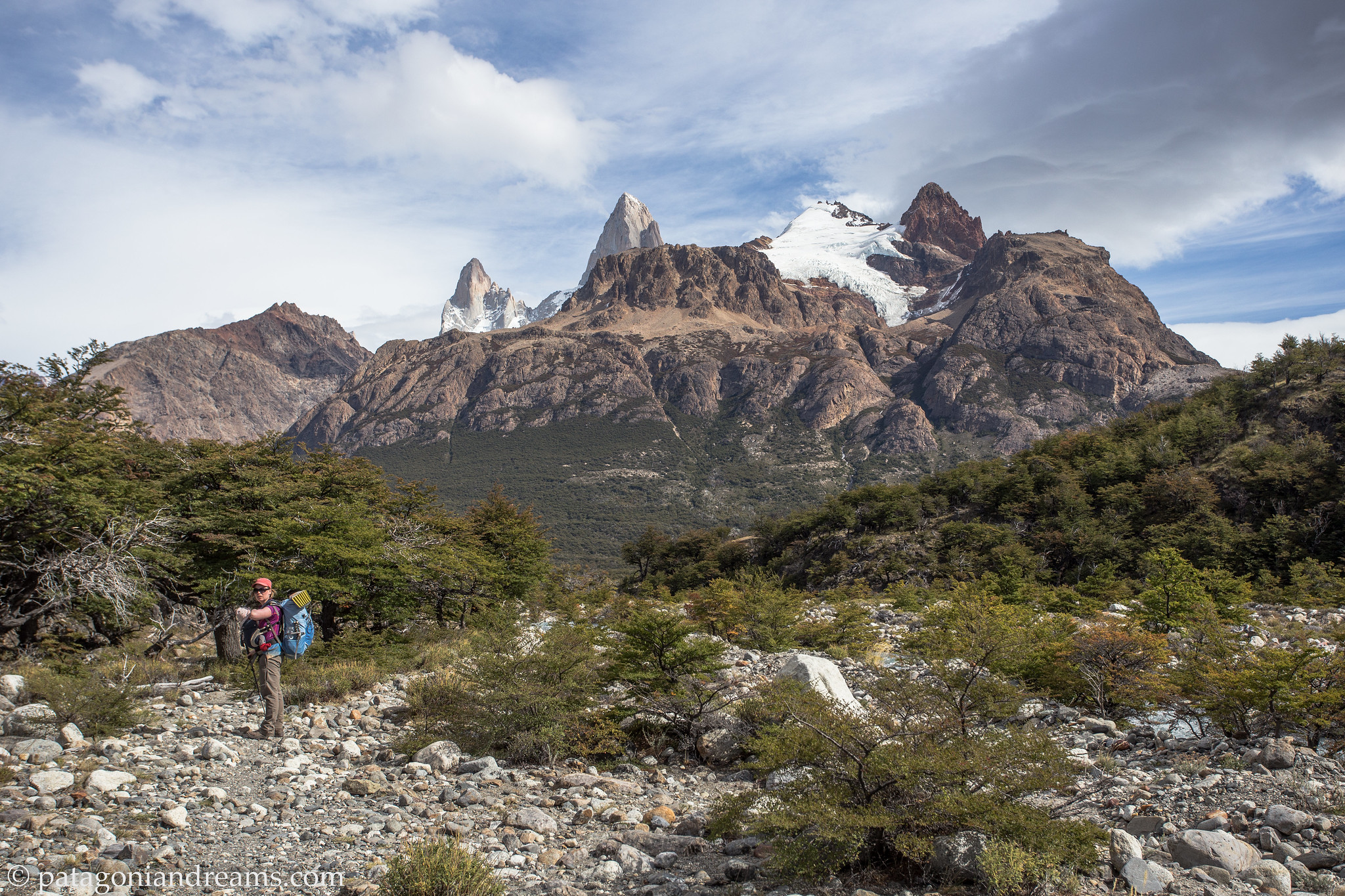 Good morning, this morning, day 3 of the trek, NP Los Glaciares, Patagonia, Argentina.