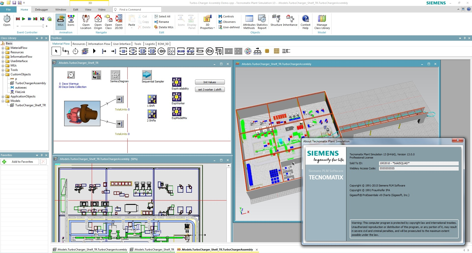 Working with Siemens Tecnomatix Plant Simulation 13.0 Win64