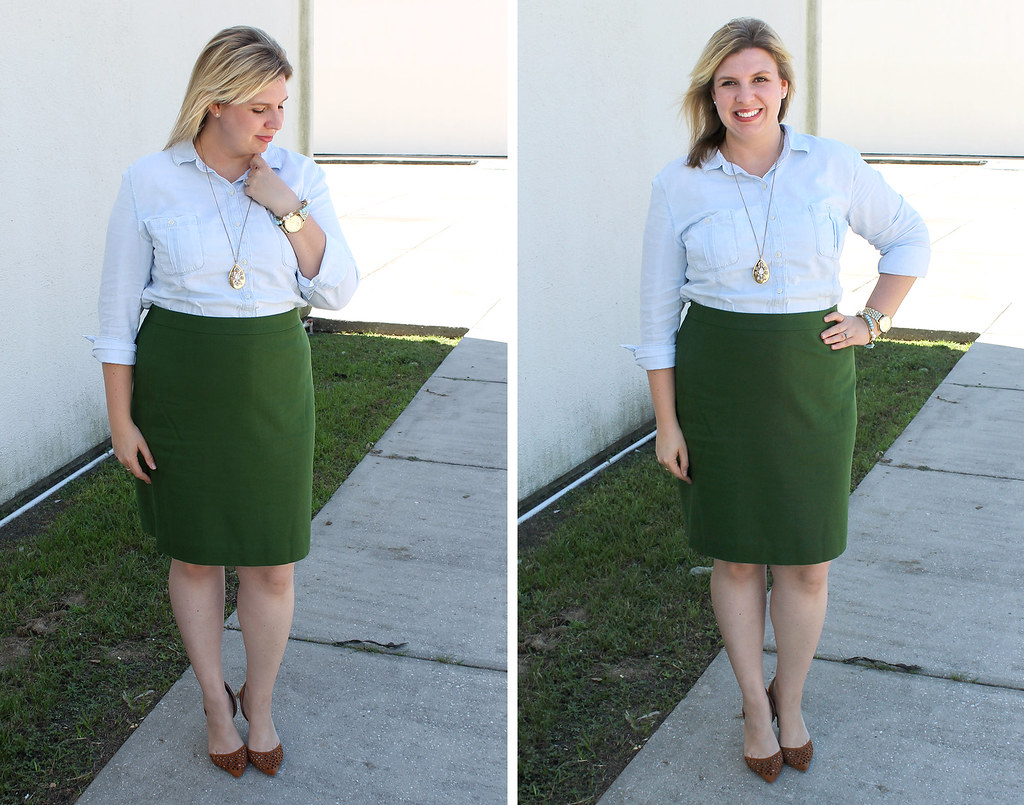 mom style remix chambray green