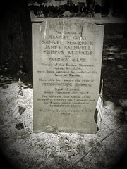 Boston Massacre Headstone