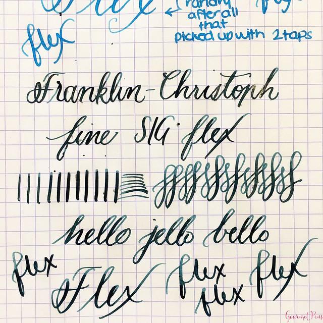 Review Franklin-Christoph Fine Flex & Fine SIG Flex Nibs @1901FC 18