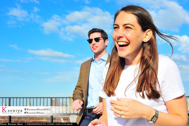Steven&Rachel | Proposal on a Rooftop | UWS, 72& Broadway
