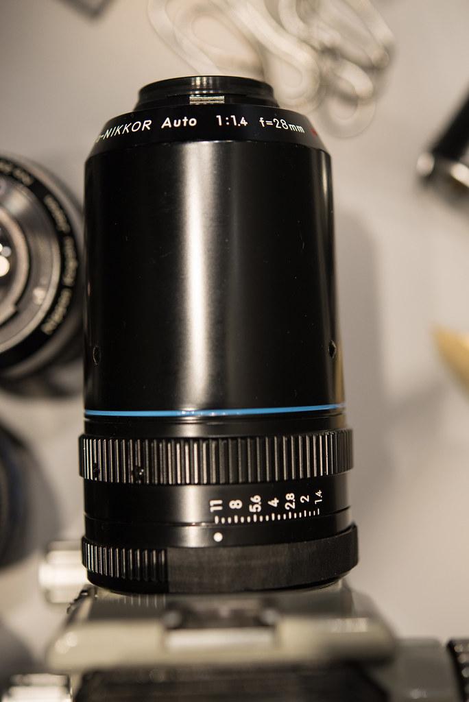 Prototype Macro-NIKKOR Auto 1:1.4 f=28mm