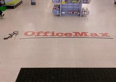 Obligatory Jonesboro OfficeMax 'logo on the floor' closeup
