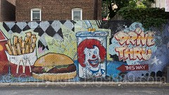McDonald's Drive Thru Mural by Tats Cru, Allerton, Bronx, New York City