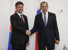 С.В.Лавров и М.Лайчак   Sergey Lavrov & Miroslav Lajcak