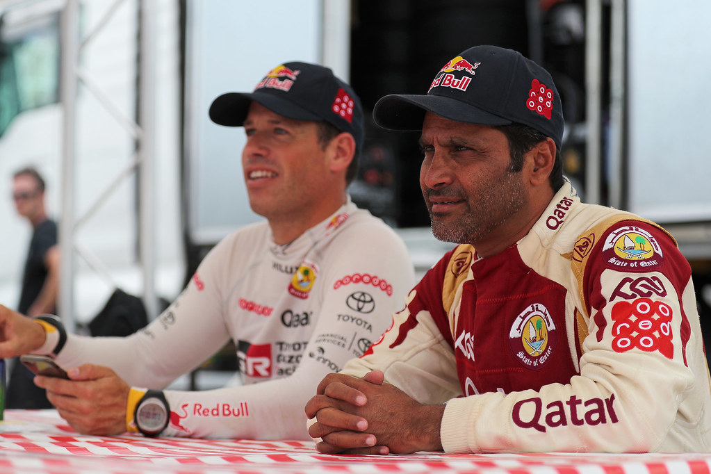 AL ATTIYAH Nasser (qat) and BAUMEL Matthieu (fra) ambiance portrait during the European Rally Championship 2017 - Acropolis Rally Of Grece - Loutraki From June 2 to 4 in Loutraki - Photo Gregory Lenormand / DPPI
