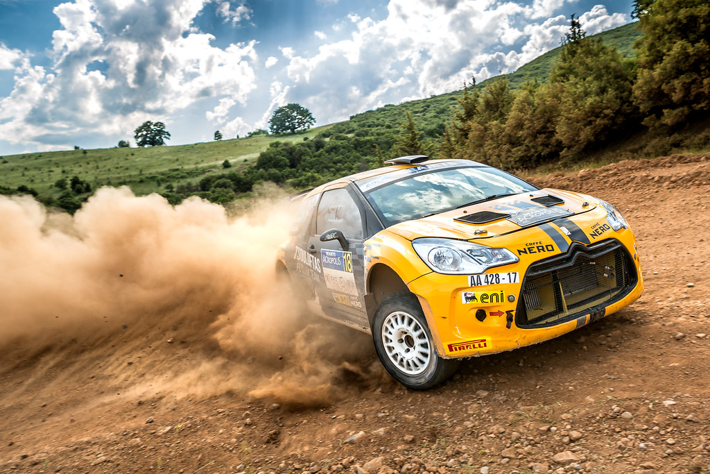 18 TSOULOFTAS Alexandros (cyp) and GIRAUDET Denis (fra) action during the European Rally Championship 2017 - Acropolis Rally Of Grece - From June 2 to 4 - Photo Thomas Fenetre / DPPI