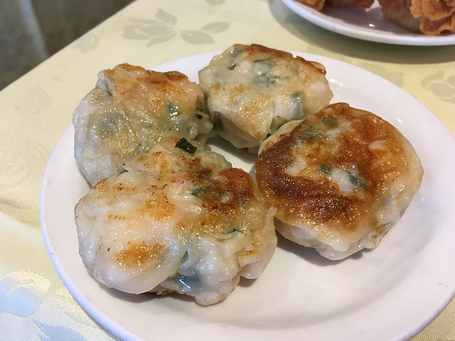 an fried chives and shrimp cakes - Dim Sum King Seafood Restaurant