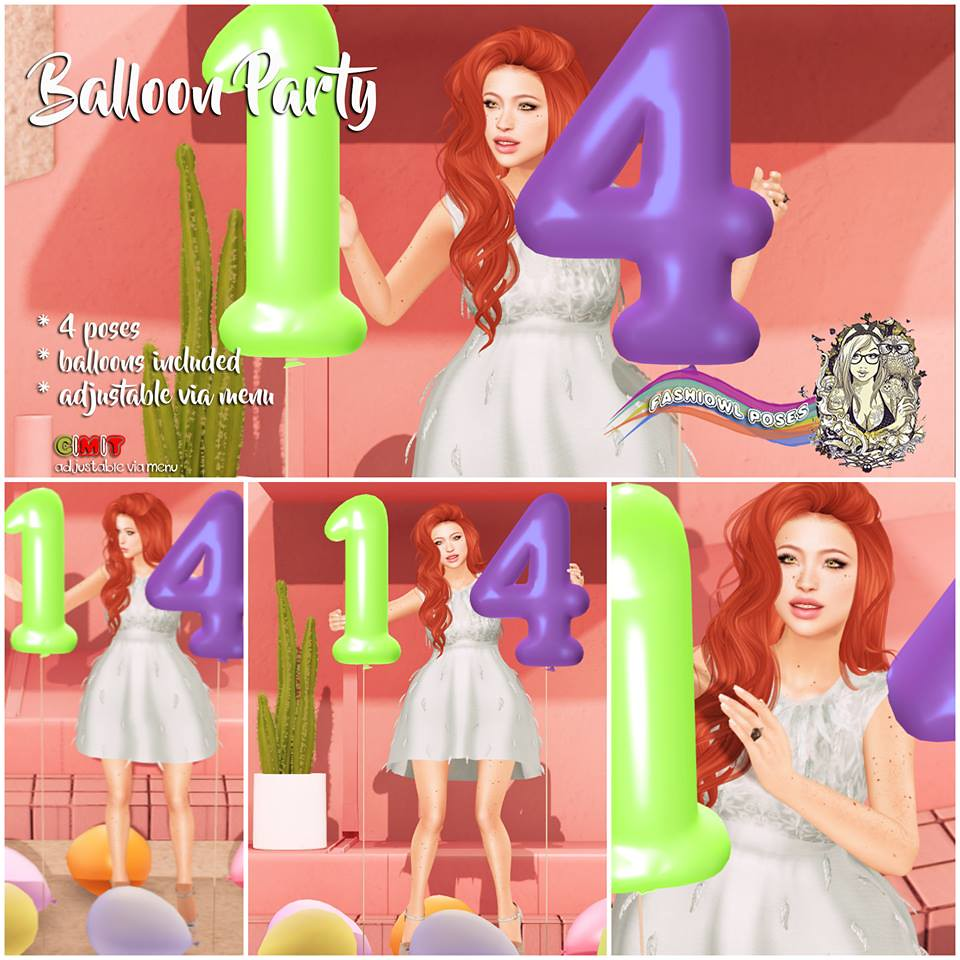 =fashiowl poes= Balloon Party - SecondLifeHub.com