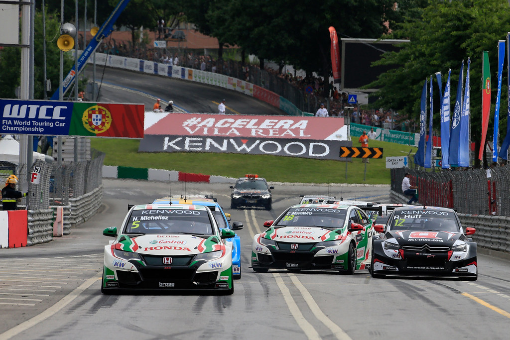 05 MICHELISZ Norbert (hun) Honda Civic team Castrol Honda WTC action 18 MONTEIRO Tiago (prt) Honda Civic team Castrol Honda WTC action 12 HUFF Rob (gbr) Citroen C-Elysee team ALL-INKL.COM Munnich Motorsport action during the 2017 FIA WTCC World Touring Car Championship race of Portugal, Vila Real from june 23 to 25 - Photo Paulo Maria / DPPI
