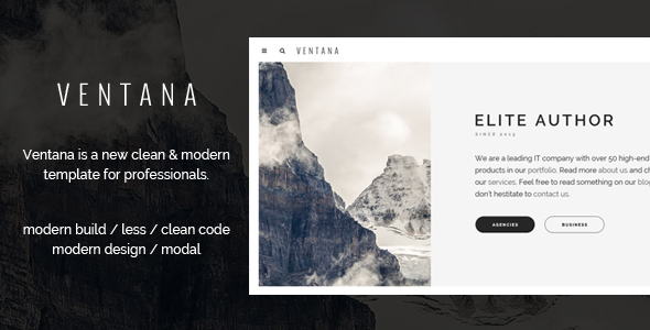 Ventana v1.0 – Simple User Interface Template