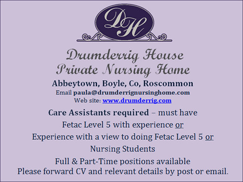 Drumderrig vacancy