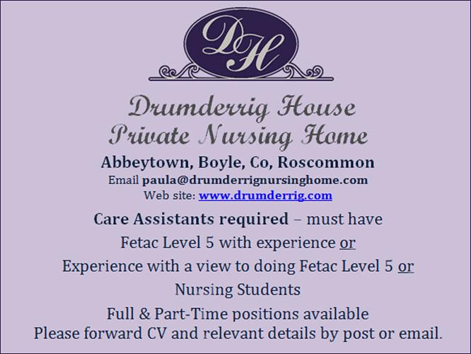 Drumderrig vacancy