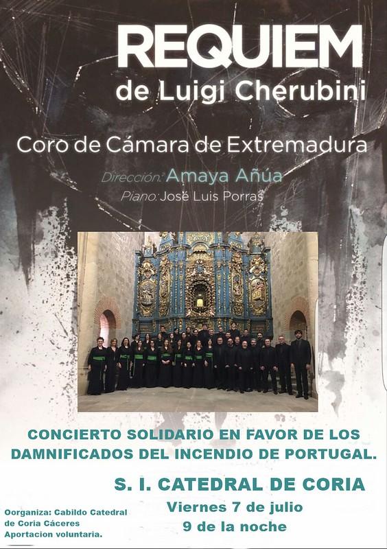 Concierto Solidario a favor de los damnificados del incendio de Portugal