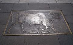 Photo of Thomas Bewick bronze plaque