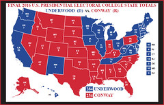 Map Of Us Electoral College.Final Underwood Conway 2016 Presidential Electoral College Flickr