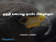 Tamil Quotes & Wallpapers of Charles Darwin