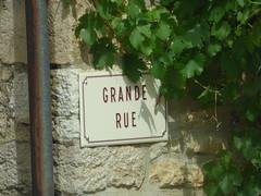 Grande Rue, Grosbois-en-Montagne - road sign