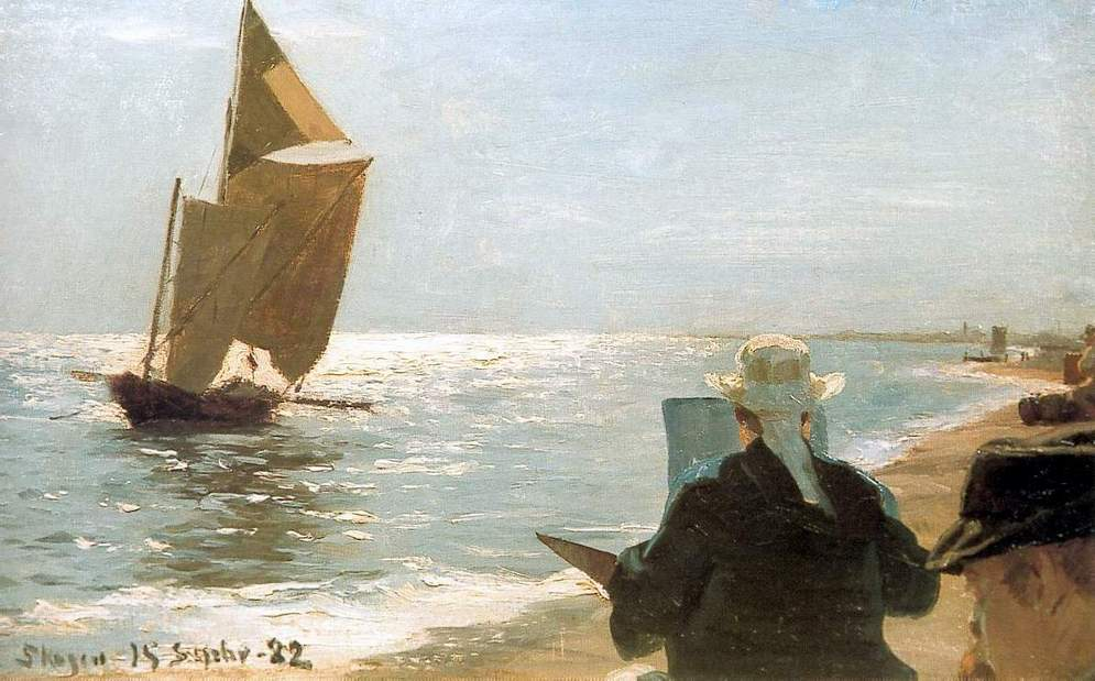 Artists on the Beach by Peder Severin Kroyer, 1882