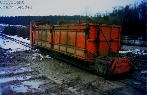 DE-94327 Bogen Bayerische Dachziegelwerke Diema Triebwagen GT 10/3 im Dezember 1988