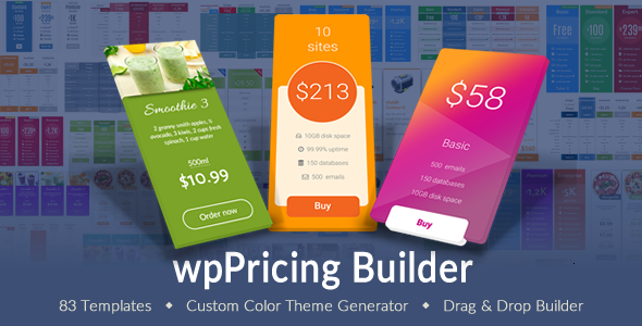 WP Pricing Table Builder v1.4.9 - Responsive Pricing Plans Plugin for WordPress