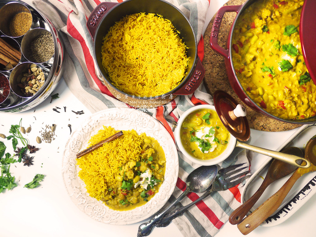 孤身廚房-Staub媽咪鍋煮超滿的印度蔬食花椰菜咖哩51