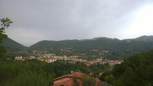 Along the descent heading for the Istituto Tecnico Economico of Brienza