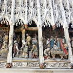 Amiens - Bas-relief polychrome