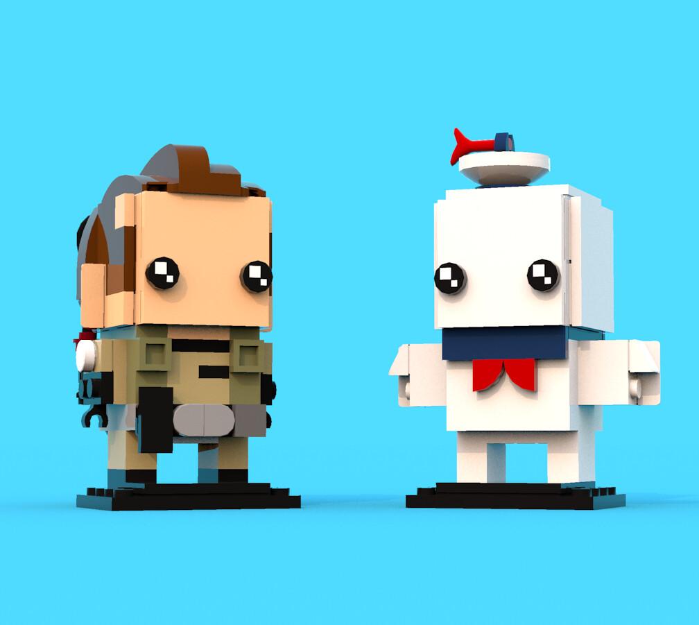 BrickHeadz Comp 3: Peter Venkman & Stay Puft