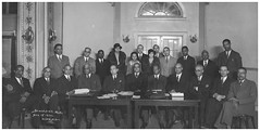 African American postal clerks union meeting: 1932