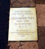 Alexander Pope's Grave, St Mary's Church, Twickenham - London.