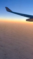 Sunrise Sunshine streaming in the plane! Transatlantic flight headed east straddling sunset to sunrise. :star2: