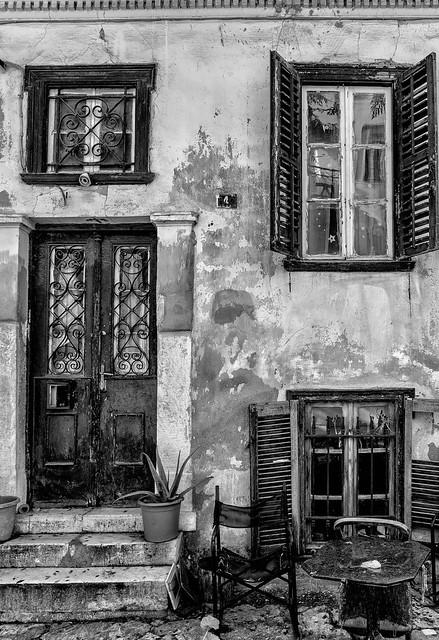 abandoned house in Plaka Athens