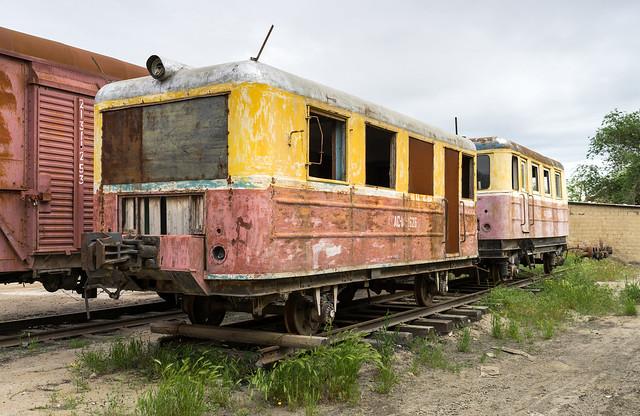 Kazakhstan Railways: abandoned AS1A railcar