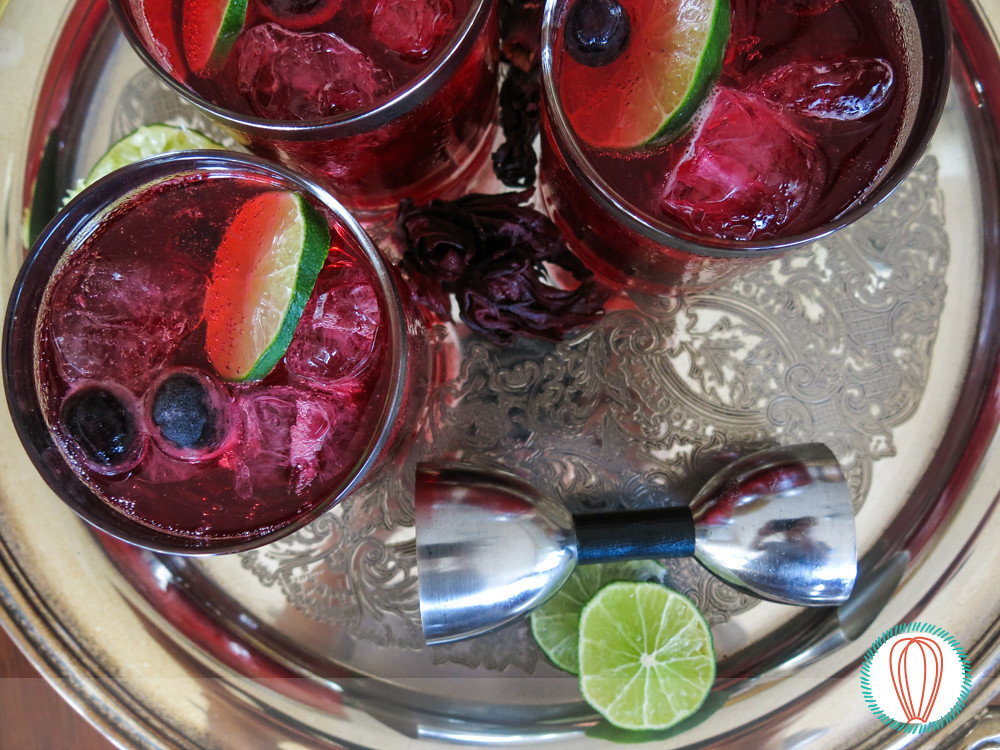Happy Hour: Hibiscus Gin Cocktail