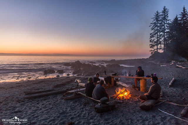 The North Coast Trail - Last campsite at the beach