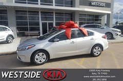 Congratulations Janie on your #Kia #Forte from Antonio Page at Westside Kia!
