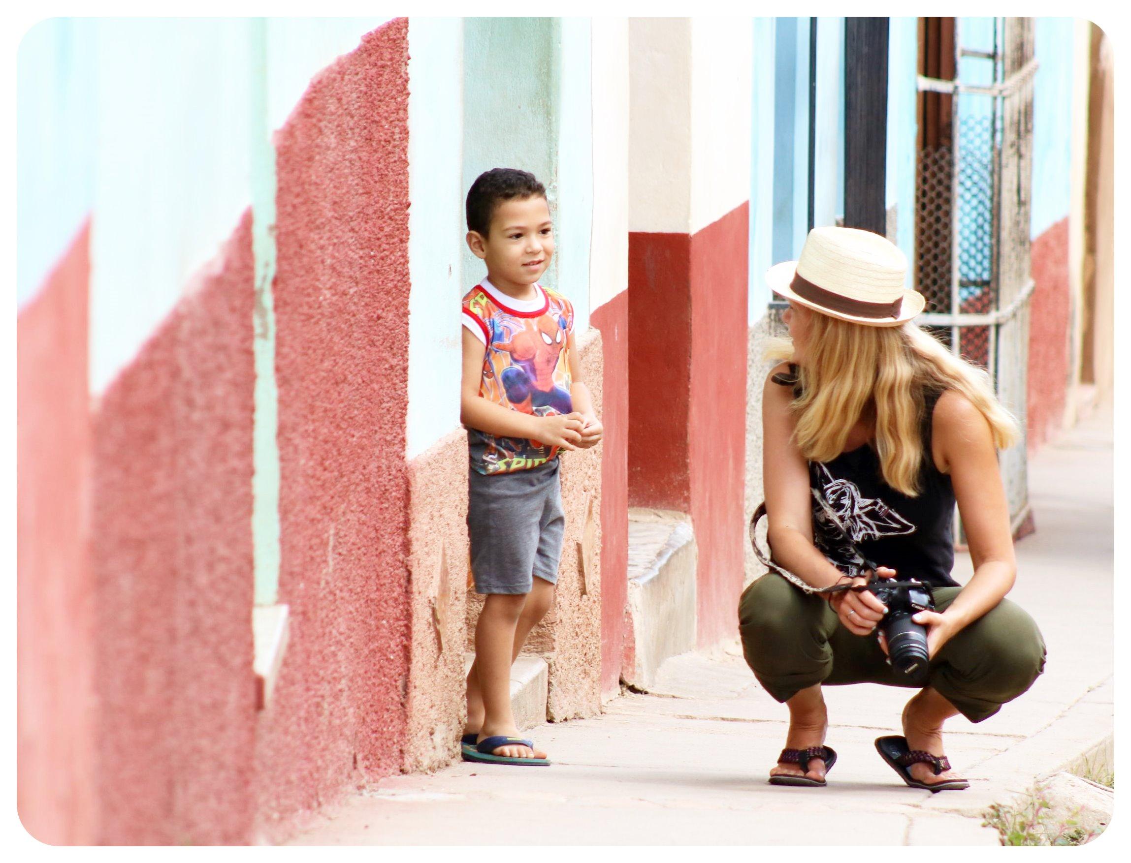 dani and kid in trinidad cuba