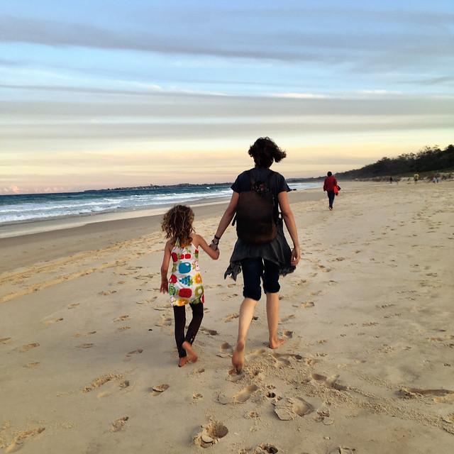 Daisy and I. Dreamtime Beach. Taken by Zoe.