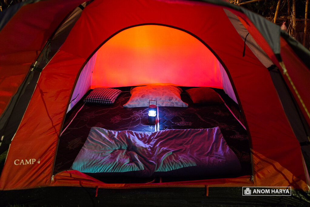 Inside the Tent at Njung Bali Camp