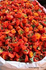 A sack of orange & yellow rose flower heads - Devaraja Market Mysore Karnataka India