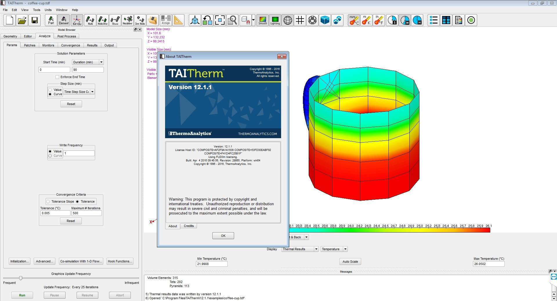 Processing with ThermoAnalytics TAITherm 12.1.1 full license